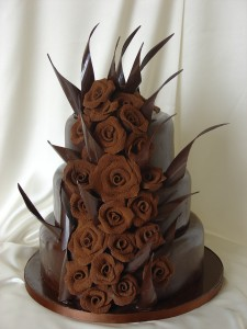 Contemporary Cake Designs - Chocolate Flames Cake
