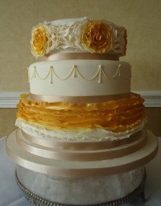 Amanda & Max's Wedding Cake - St Pierre Golf Course and Hotel Country Club Chepstow (9th May)