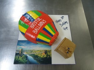 balloon 30th birthday cake