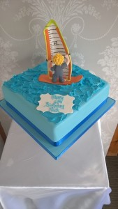 windsurfing birthday cake