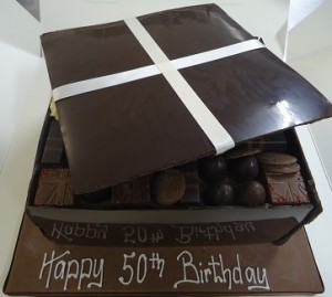 50th birthday chocolates cake