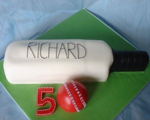 50th birthday cricket cake