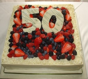 50th birthday fruit cake