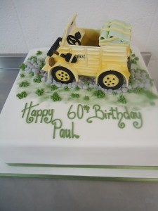 60th car birthday cake