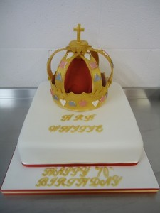 70th regal birthday cake