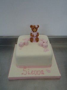 baby girl birthday cake