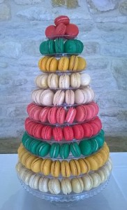 coloured macarons bands