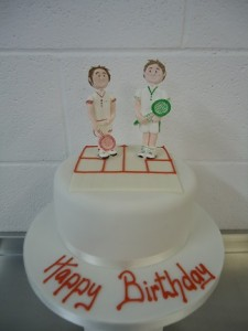 birthday tennis cake