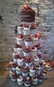 chocolate fruit cups tower