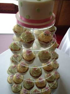 cup cake icing tower