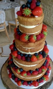 four tier sponge fruit cake