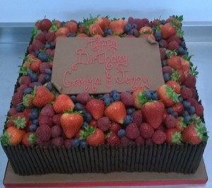 fruit decoration birthday cake