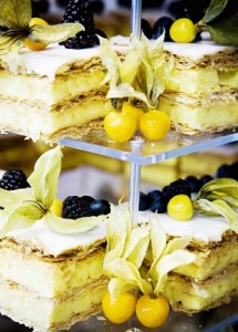 lemon cakes tower