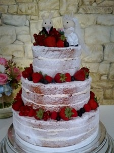 three tier sponge rabbits cake