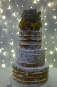 three tier sponge fruit cake