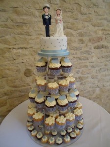 wedding cup cakes tower