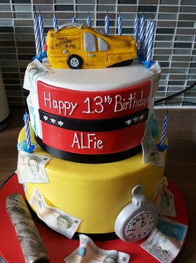Contemporary Cake Designs create distinctive, bespoke personalised birthday cakes.